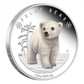 1/2 Unze Silber Baby Polar Bär Perth Mint PP Tuvalu