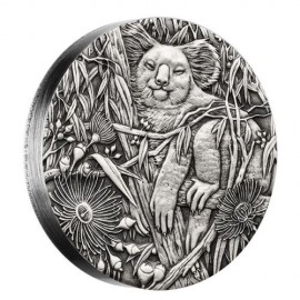 2 oz Koala  PP  high relief antique