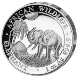 1 Unze Silber Somalia Elefant 2017 High Relief