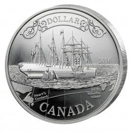 3/4 Unze Silber 150 Jahte Transatlantik Kabel 2016 Kanada