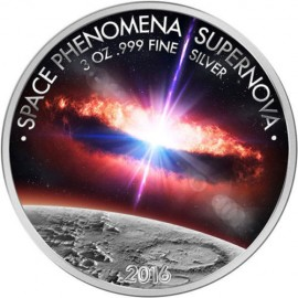 3 Unze Silber Supernova 3 Oz Silver Coin 1500 Francs Burkina Faso 2016