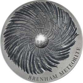 5 Unzen Silber Tschad Brenham Meteorit 2016 5000 CFA