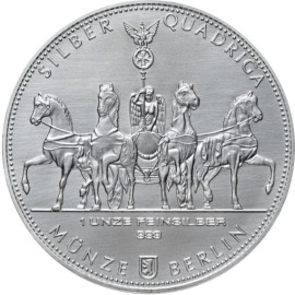 1 Unze oz Silber Germania  Quadriga 2017