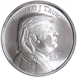 Silver round Donald Trump