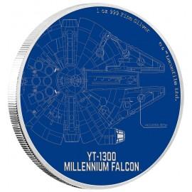 1 Unze Silver Millennium Falke 2017