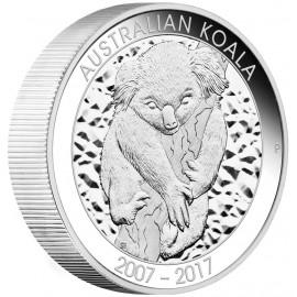 10 Unzen Silber Koala 10. Jubiläum Australischer Koala  PP
