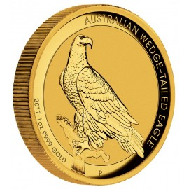 1 Unze Gold Wedge-Tailed Eagle High Relief PP mit Box 2017