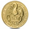 2017 1/4 Oz gold Queen's Beasts series Red Dragon of Wales United Kingdom  Front