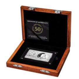 1 + 2 Unzen Silber Premium-Silberbarren zum Jubiläum '50 Jahre Krügerrand'