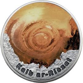 1 Unze Silber  2$ 2016 Niue Island - Geheimnisvolle Ringe - Auge der Sahara / Eye of the Sahara