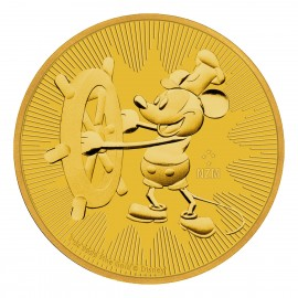 1 oz Unze Gold  Mickey Steamboat Willie Disney 2017