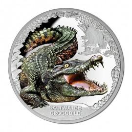 1 oz Silver saltwater crocodile 2017