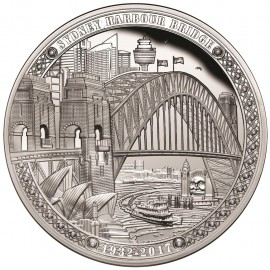2 Unzen oz Silber  Sydney Harbour Bridge Niue 2017