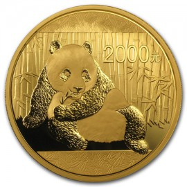 5 oz China Panda Goldmünze 2015