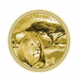 5 Unzen Gold African Safari Lion 2017 PP 20000  Francs CFA