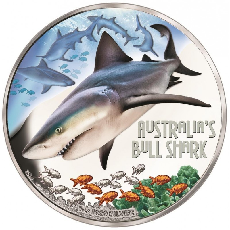 1 Unze Silber Bullenhai  Deadly& Dangerous 2017 Tuvalu