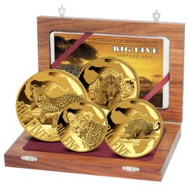Big Five Gold Leopard Set 2017 (1/10, 1/4, 1/2, 1 Unze)