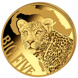0,5 g Gramm  Gold  Big Five Leopard 2017 PP