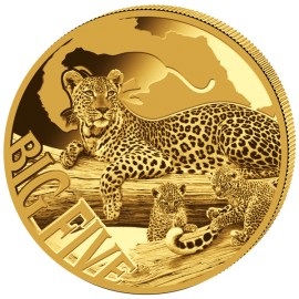 5 oz Gold Big Five Leopard  2017 PP 10000  Francs CFA