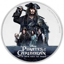 1 Unze Silber Pirates of the Caribbean Disney Niue