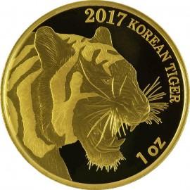 1/4 oz Gold Korean Tiger 2017 PP Box