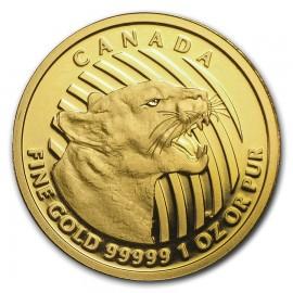 1 oz Call of the Wild 2015 Gold Puma Cougar