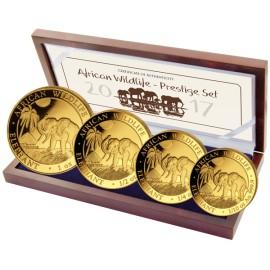 1/10 bis 1 oz Gold Somalia Elefant Set 2017 PP