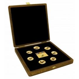 7 Münzenset Gold 999 Altes Ägypten