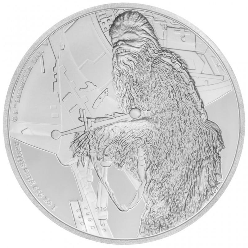 1 Unze Silber Chewbacca Star Wars Niue