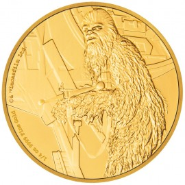 1/4 oz Chewbacca Star Wars  PP  Gold 2017