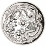 1 Unze Silber Dragon Phoenix Tuvalu  Perth Mint 2017 High Relief PP