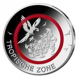 """5 x 5 Euro Deutschland """"Tropische Zone"""" 2017 Spiegelglanz / PP - A, D, F, G & J"""