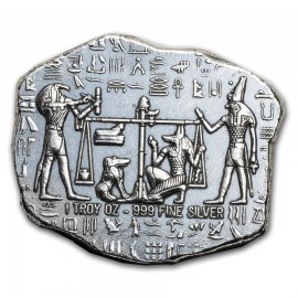 1 Unze oz Silber Relic Bar - Monarch Precious Metals (Anubis)