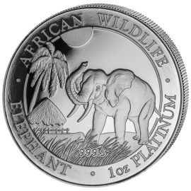 1 OZ Platin Somalia Elefant Proof 2017