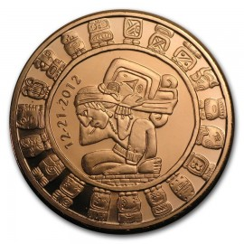 1 oz Copper Maya Round