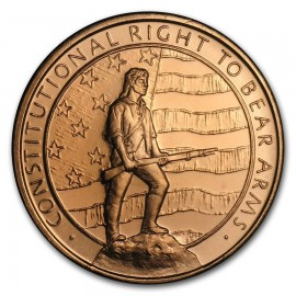 1 oz Copper second amendment Round