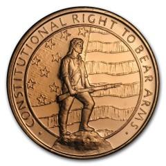 1 oz Copper second amendment Round