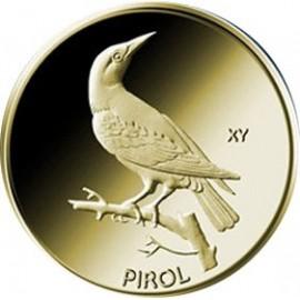 1/8 oz Gold 20 Euro Pirol  Heimische Vögel 2017 Deutschland