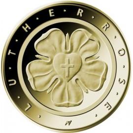 1/4 oz Gold 50 Euro Lutherrose 2017 Deutschland