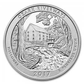 5 oz Silber America  the Beautiful  2017 ATB Ozark National Scenic Riverways Missouri