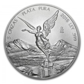 5 Unzen Silber Mexiko Libertad 2017