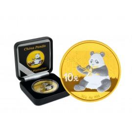 1 Unze Silber China Panda 2017 Gold Platinline