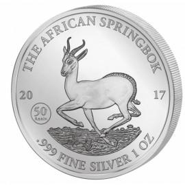 1 Unze Silber Afrikanischer Springbock 2017 50 Jahre