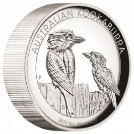 5 Unzen  Silber Australien Kookaburra 2017 High Relief