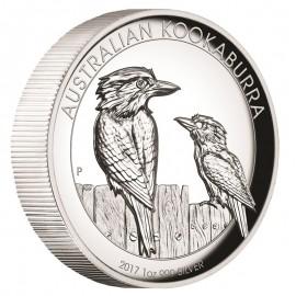 1 Unze  Silber Australien Kookaburra 2017 High Relief
