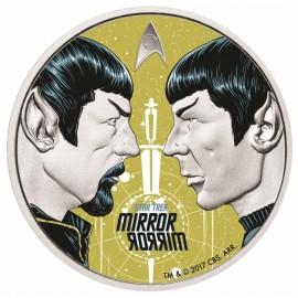1 Unze Silber Star Trek Mirrow Mirrow Tuvalu  PP