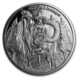 1 oz Silver  Chad 1 oz Proof Silver Gargoyles and Grotesques (Decay)