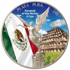 1 Unze Silber Mexiko Libertad 2017 farbig Pyramid Niches  El Tajin