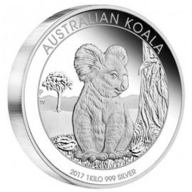 1kg Silber Koala 2017 PP Box