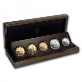 3 x 1 oz Gold +1 oz Silber+ 1 oz Platin Vintage Set Gold Krügerrand  PP 50 Jahre Jubiläum